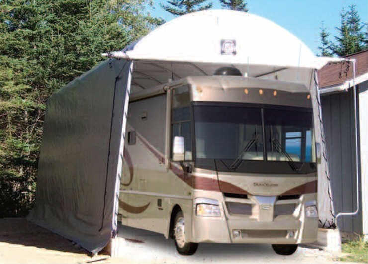 king tarp cover canopy garage portable withsilver x leg