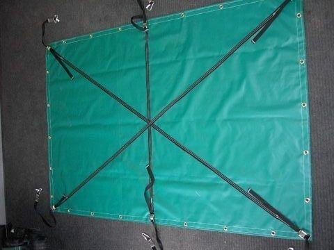 Vinyl containment tarp